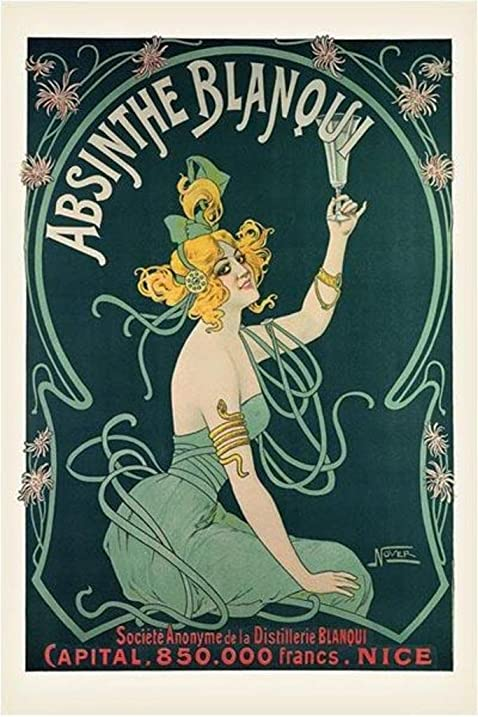 Absinthe Blanqui Vintage Alcohol Advertising Ad Art Nouveau Poster Print 24 By 36