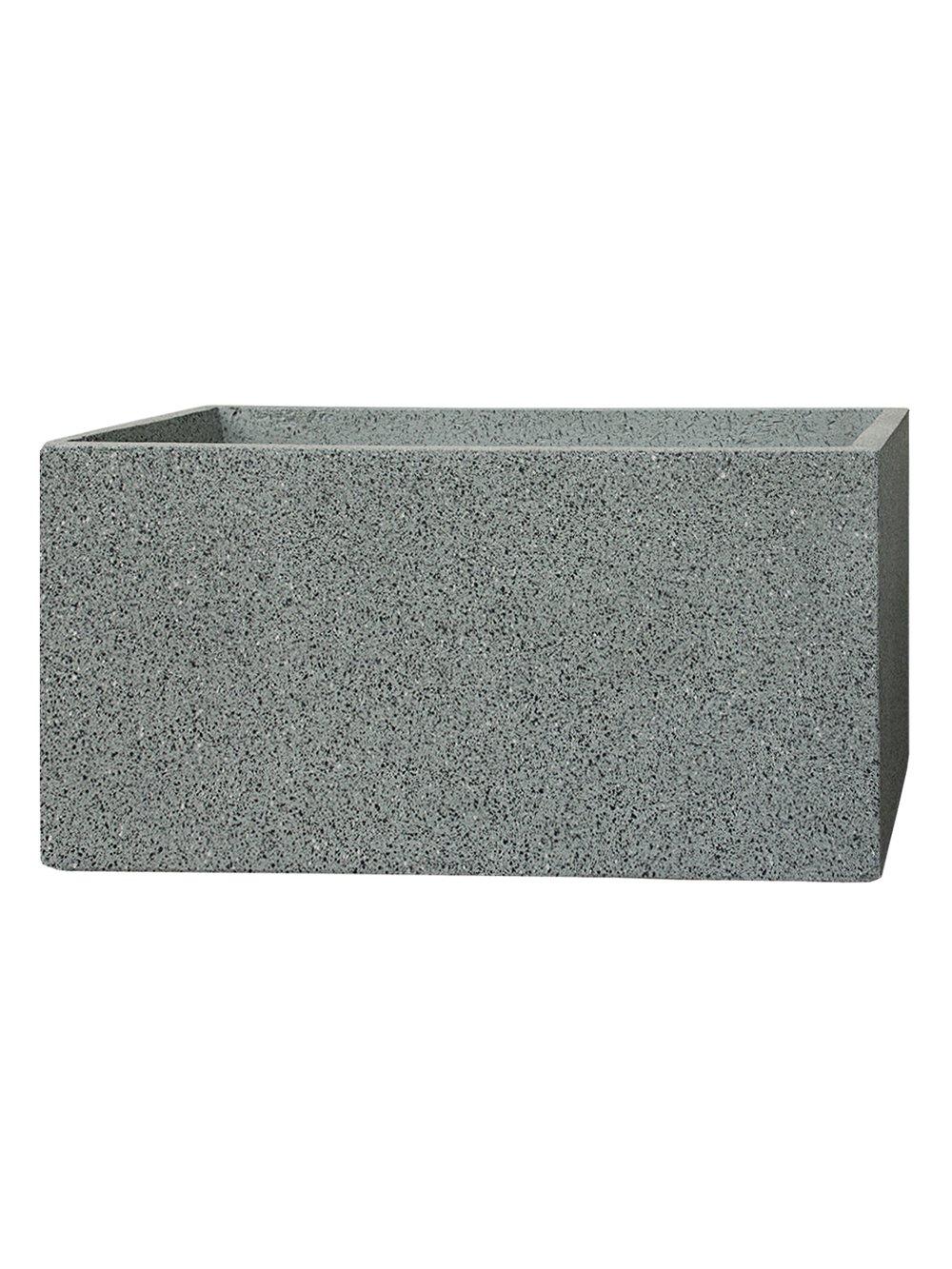 PFLANZWERK® Pflanzkübel TUB Granit Grau 45x100x45cm *Frostbeständig* *UV-Schutz* *Qualitätsware*