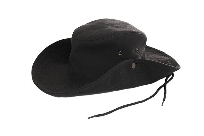 Krumba Algodón Oilskin al Aire Libre Impermeable Cowboy Hat para los Hombres eM2GJ