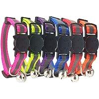 LANGING 6 Stück solide Sicherheitshalsbänder für Katzen gemischte Farben Haustier Halsband