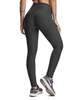 ed1038645a432 SEASUM Women's High Waist Yoga Pants Tummy Control Slimming Booty Leggings  Workout Running Butt Lift Tights