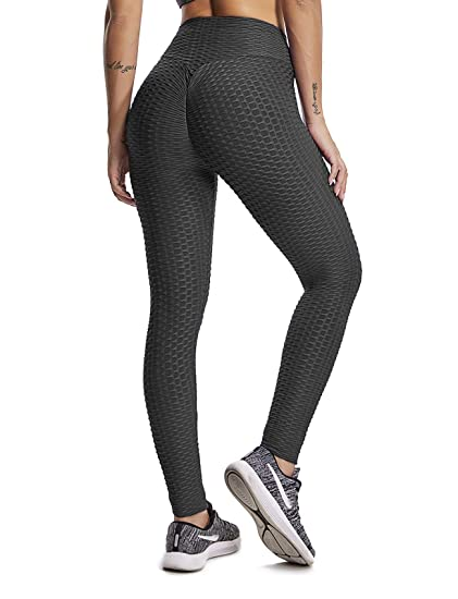 f3e2d2c37 SEASUM Women s High Waist Yoga Pants Tummy Control Slimming Booty Leggings  Workout Running Butt Lift Tights