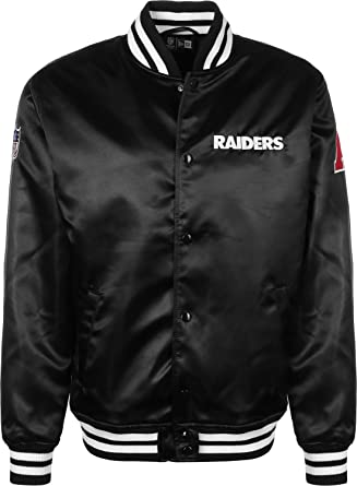 New Era Herren Jacken / Bomberjacke F O R Oakland Raiders Sateen schwarz S