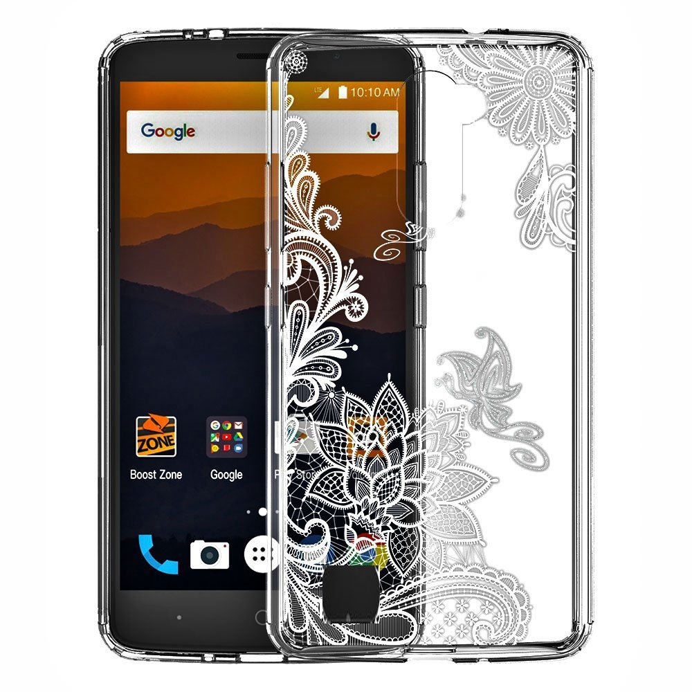 LG Stylo 2 / Stylus 2 / Stylo 2V / LG Stylus 2 Plus Case,Skmy Shockproof Hard PC+ TPU Bumper Case Scratch-Resistant Cover for LG Stylo 2 Plus / LS775 - Lace Flower