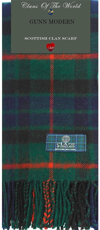 Gunn Modern Tartan Clan Scarf 100% Soft Lambswool I Luv LTD