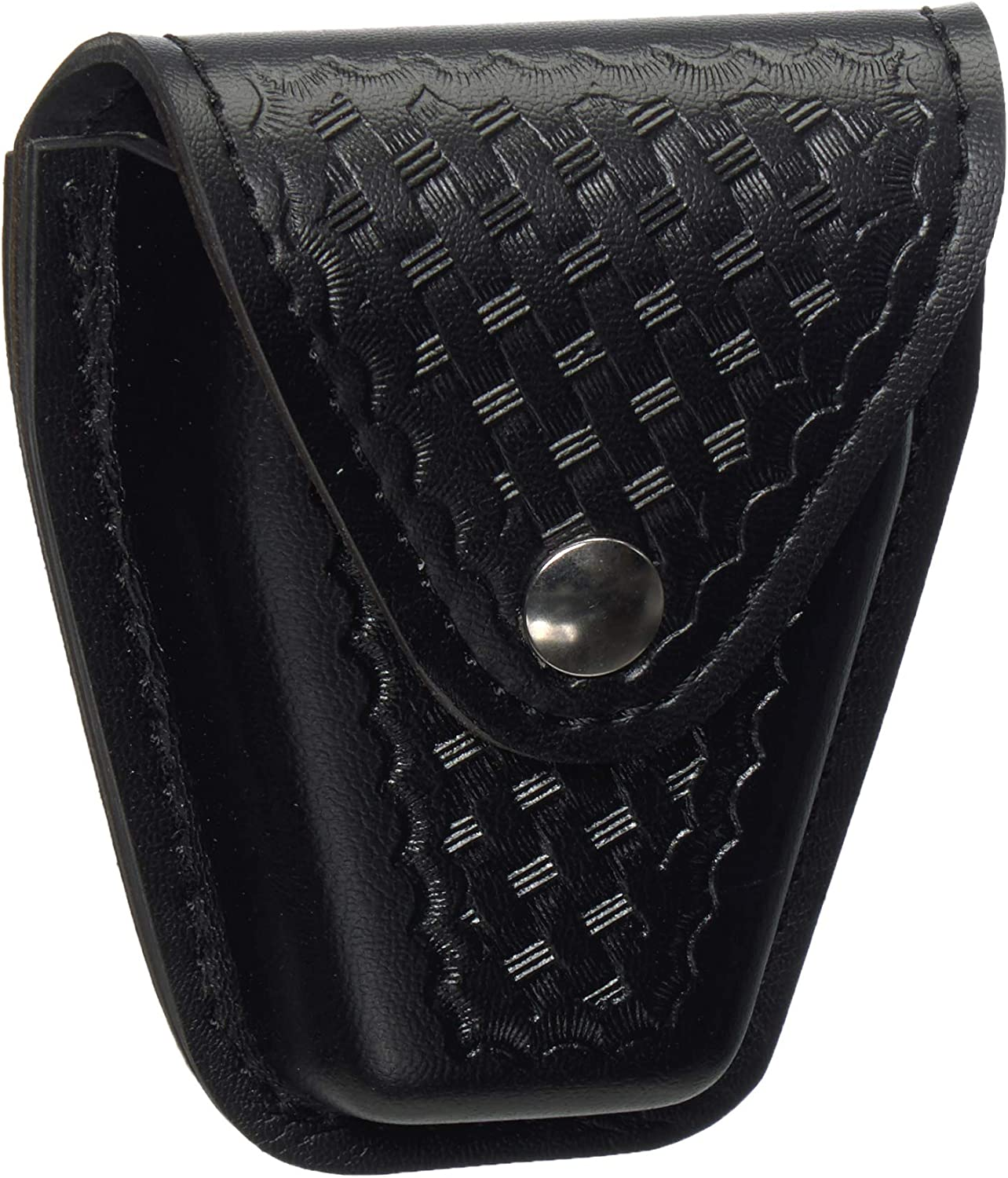 Safariland Duty Gear Flap Top Chrome Snap Basketweave Handcuff Case (Black)