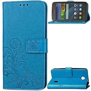 Huawei Y635 Funda,[FQY-TEC][Azul]S[Cuero Pu] y [TPU]Cartera ...