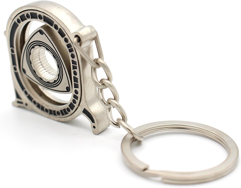 VmG-Store Rotor Porte-cl/és avec Moteur /à Piston Circulaire Mobile Noir//chrom/é