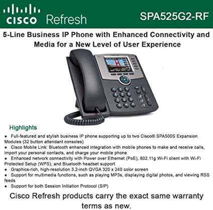 Cisco SPA504G 4-Line IP Business Phone Cisco Refresh