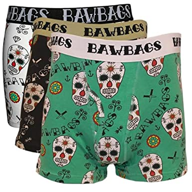 BawBags 3 pack Boxers - Day Of The Dead - 3 pack Small