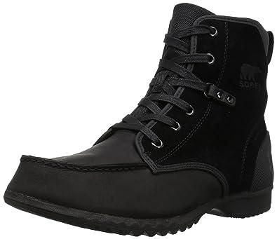 Sorel Men's Ankeny Moc Toe Snow Boot, Black, ...