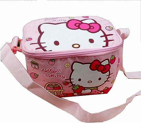 436e6a1d8ef9 DI GRAZIA Cartoon Hello Kitty Character Children s Thermal Lunch Bag ...