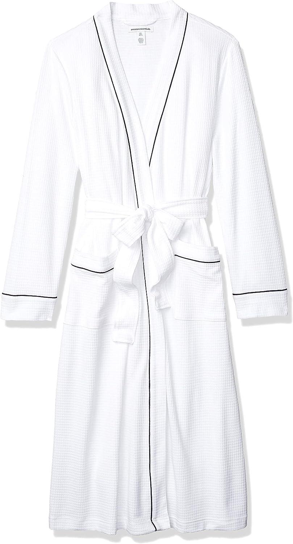 Essentials Womens Lightweight Waffle Full-Length Robe