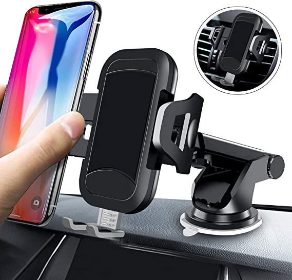 Huawei and Other Smartphones Samsung Galaxy Strong Sticky Gel Suction Cup Cradle Mount Compatible with iPhone LG Pivoi Universal Car Phone Mount