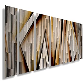 Modern Contemporary Abstract Large Metal Wall Sculpture Copper Gold Art Work Quot Vanishing Point Quot