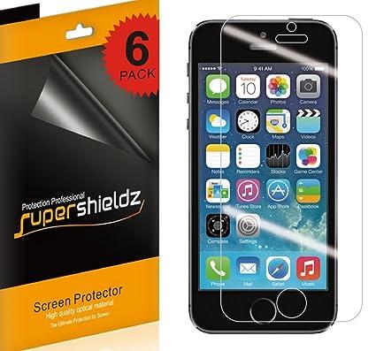 huge selection of 79e14 0b7d4 Supershieldz [6-Pack] for iPhone SE / 5S / 5C / 5 Anti-Glare &  Anti-Fingerprint (Matte) Screen Protector + Lifetime Replacement