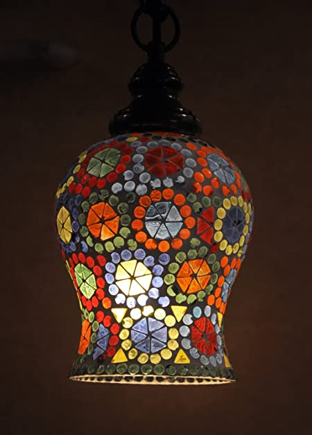 Indian glass lamp shade decorative ceiling light hanging pendant indian glass lamp shade decorative ceiling light hanging pendant aloadofball Choice Image