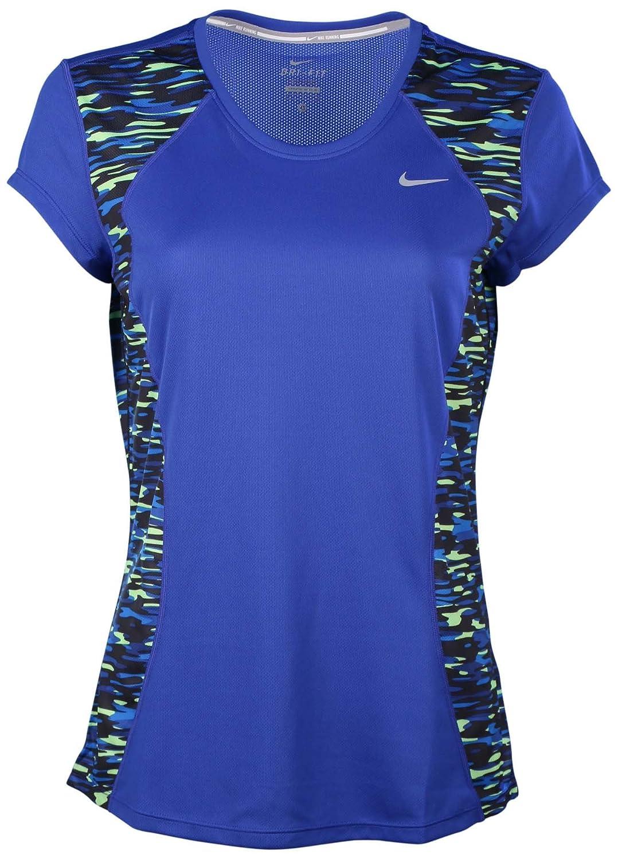 Amazon Nike Womens Dri Fit Print Racer Running Shirt Game Royal