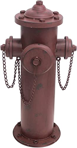 MayRich 23″ x 8″ Distressed Decorative Metal Fire Hydrant Statue