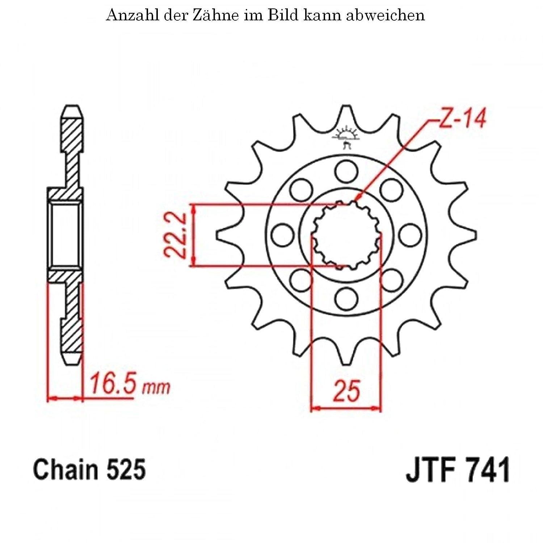 Ritzel 14 Z/ähne f/ür Hypermotard 821 SP ABS Baujahr 2013-2015 von jtSprockets