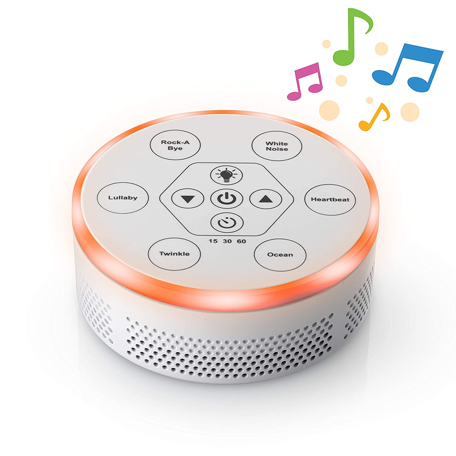 Dream Zone Sound Machine Relaxing Sleep Therapy for Baby, Home, Office Study 6 Unique Music Settings, Timer, USB Charging Ports Flickering Night Light Soothing Ocean, Rain River Sounds