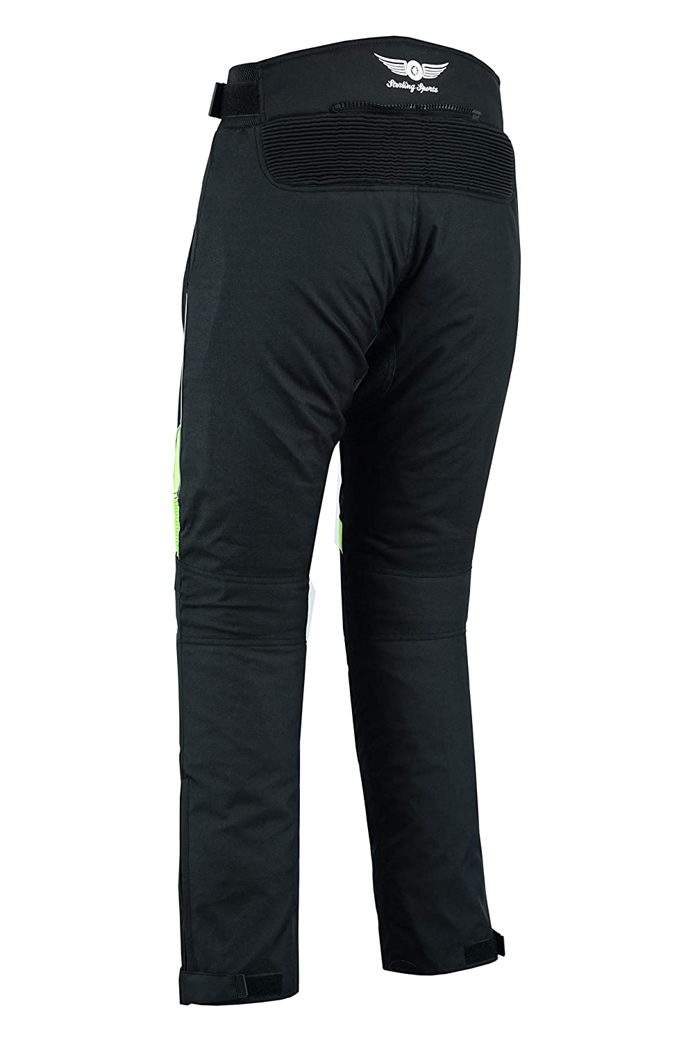 Cameo Green, 32Wx30L Sterling Sports/®Men Textile Waterproof Motorbike Motorcycle Thermal Armoured Trouser Cargo Pant Black Cameo Grey Green