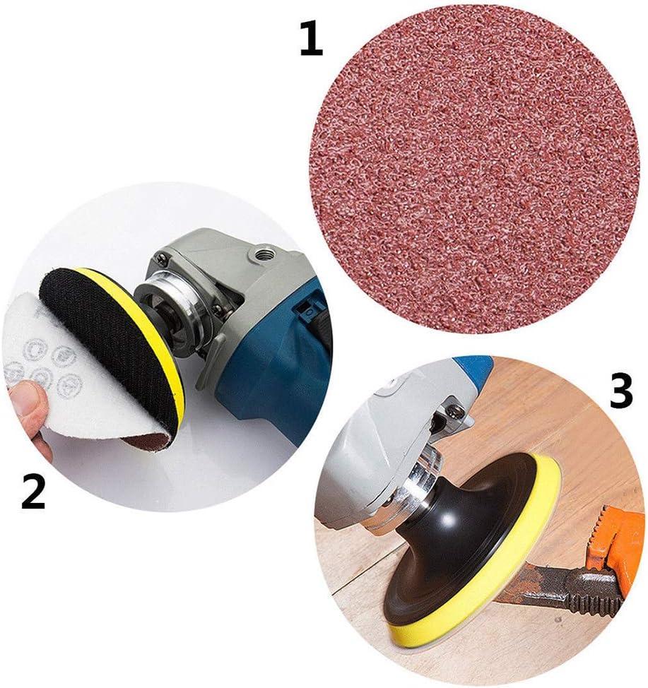 Polieren f/ür Bohrmaschine Schleifpapier-Set Schleifwerkzeuge Schleifpapier inkl 75 mm Bluesees Schleifscheiben 80,100,180,240,600,800,1000,1200,2000,3000er K/örnung Schleifpapier