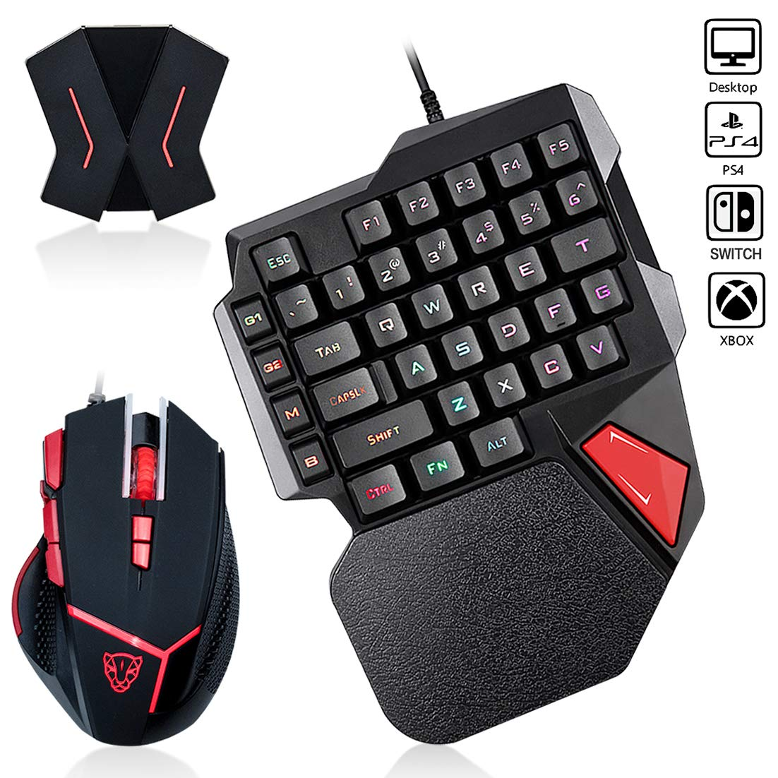Zjfksdyx C91 Pro Backlit Gaming Keyboard And Mouse With Video Game For Ps4 Xbox One Switch Ps3 Pc Gamingdevicesdepot Com