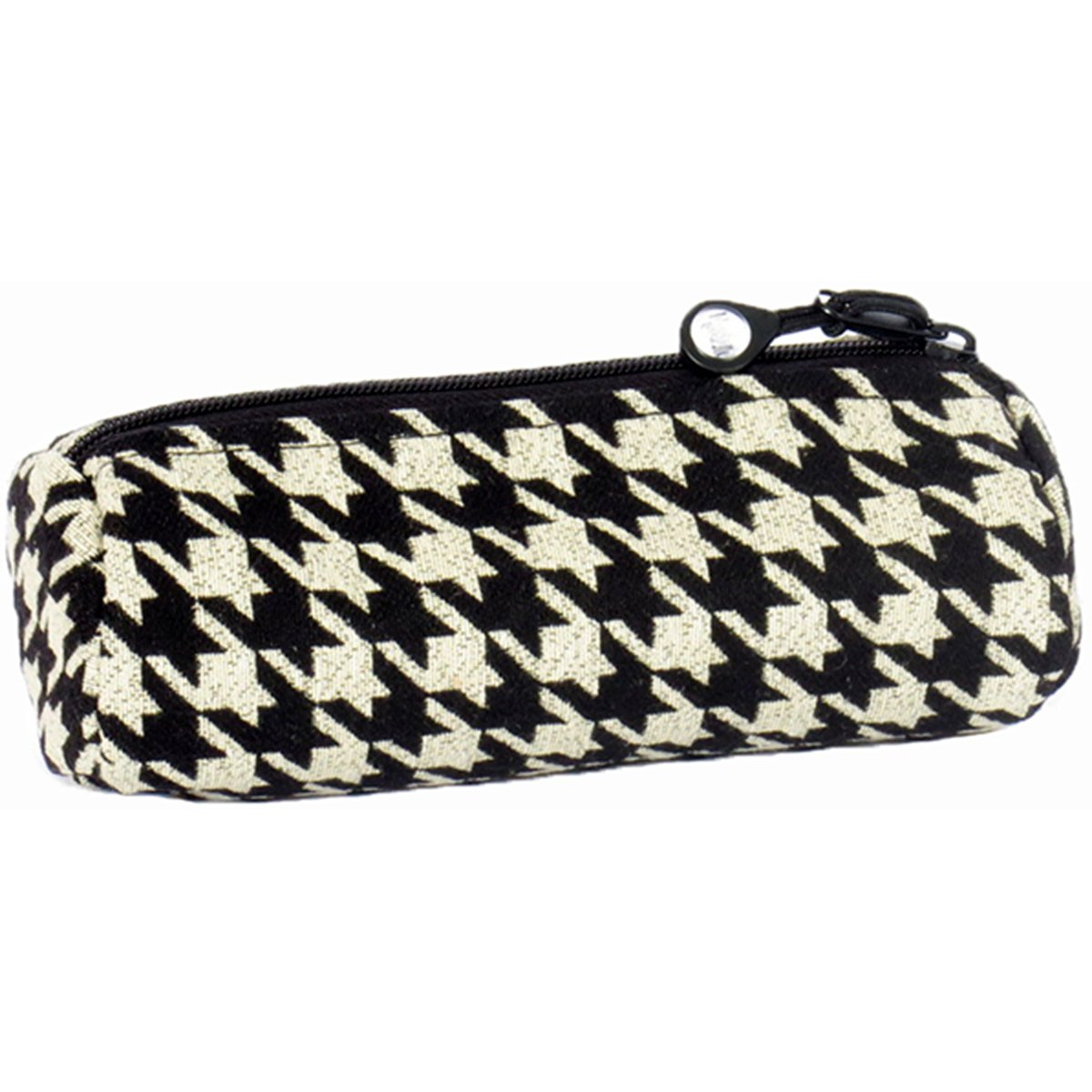 Bluefig Pearl District zippered accessori case-ebony–Black Houndstooth 287783