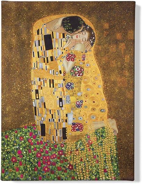 40x30cm #112081 Gustav Klimt Der Kuß Jugendstil Poster Leinwand-Druck Bild