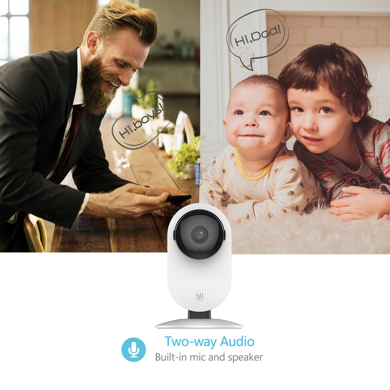 Cloud Service Disponible YI Cam/éra de Surveillance WiFi 1080P Wireless Cam/éra de S/écurit/é IP Cam/éra Vision Nocturne D/étection de Mouvement et de sanglot de b/éb/é Cam/éra en Direct Lot de 4