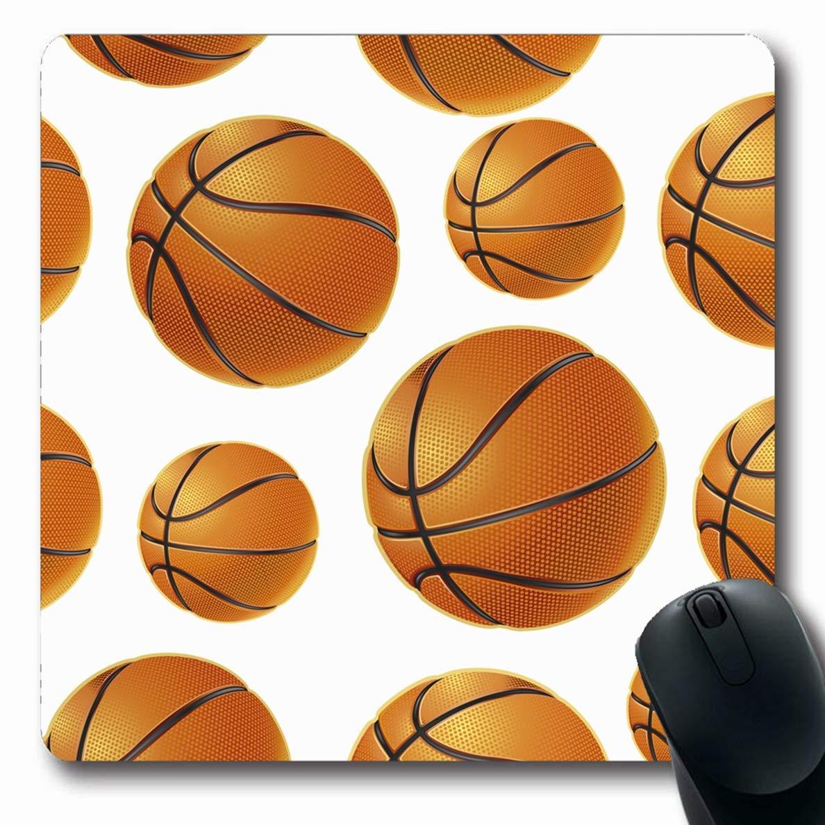Alfombrilla de ratón Oblong Athletic Naranja Baloncesto Baloncesto ...