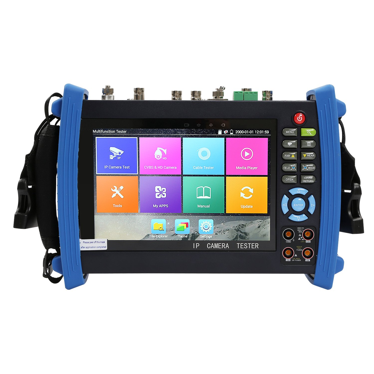 Wsdcam 7 Inch All in One 1080p Retina Display IP Camera Tester Security CCTV Tester Monitor with SDI/TVI/AHD/CVI/TDR/OPM/VFL/POE/WIFI/Multimeter/4K H.265/HDMI In&Out/Firmware Upgrade 8600MOVTSADH-Plus by wsdcam