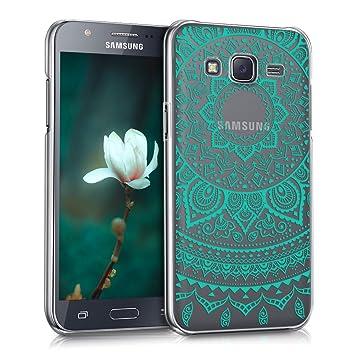 kwmobile Funda para Samsung Galaxy J5 (2015) - Carcasa de [plástico] para móvil - Protector [Trasero] en [Menta/Transparente]
