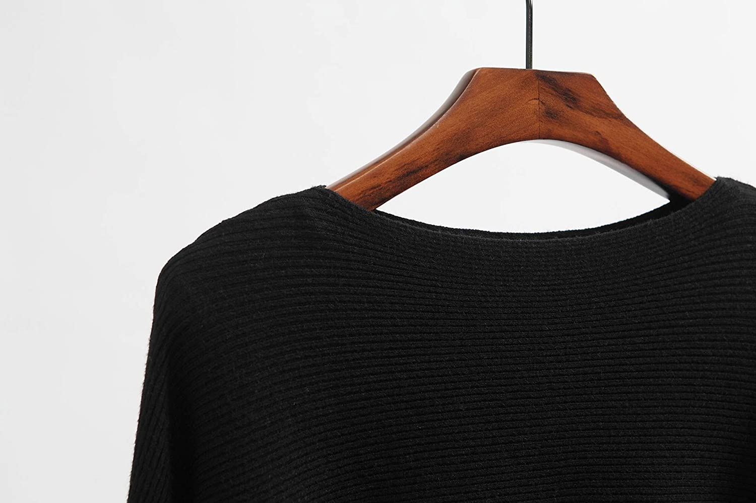 GABERLY Boat Neck Batwing Sleeves Dolman Knitted Sweaters and Pullovers Tops for Women