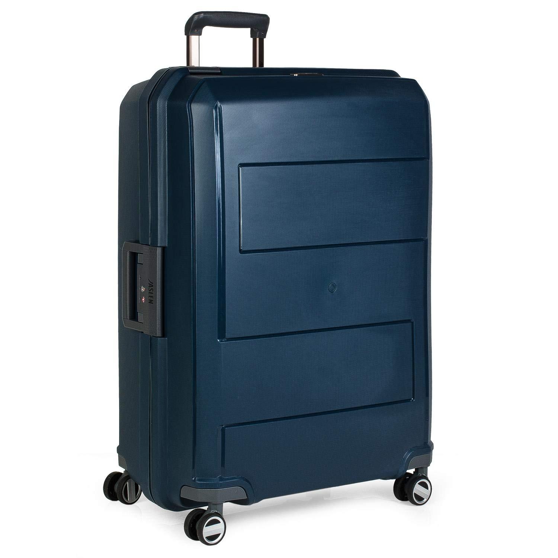JASLEN - Maleta de Viaje Rígida 4 Ruedas Trolley 73 cm Grande XL. Polipropileno. Resistente y Ligera. Mango, Asas y Candado TSA.