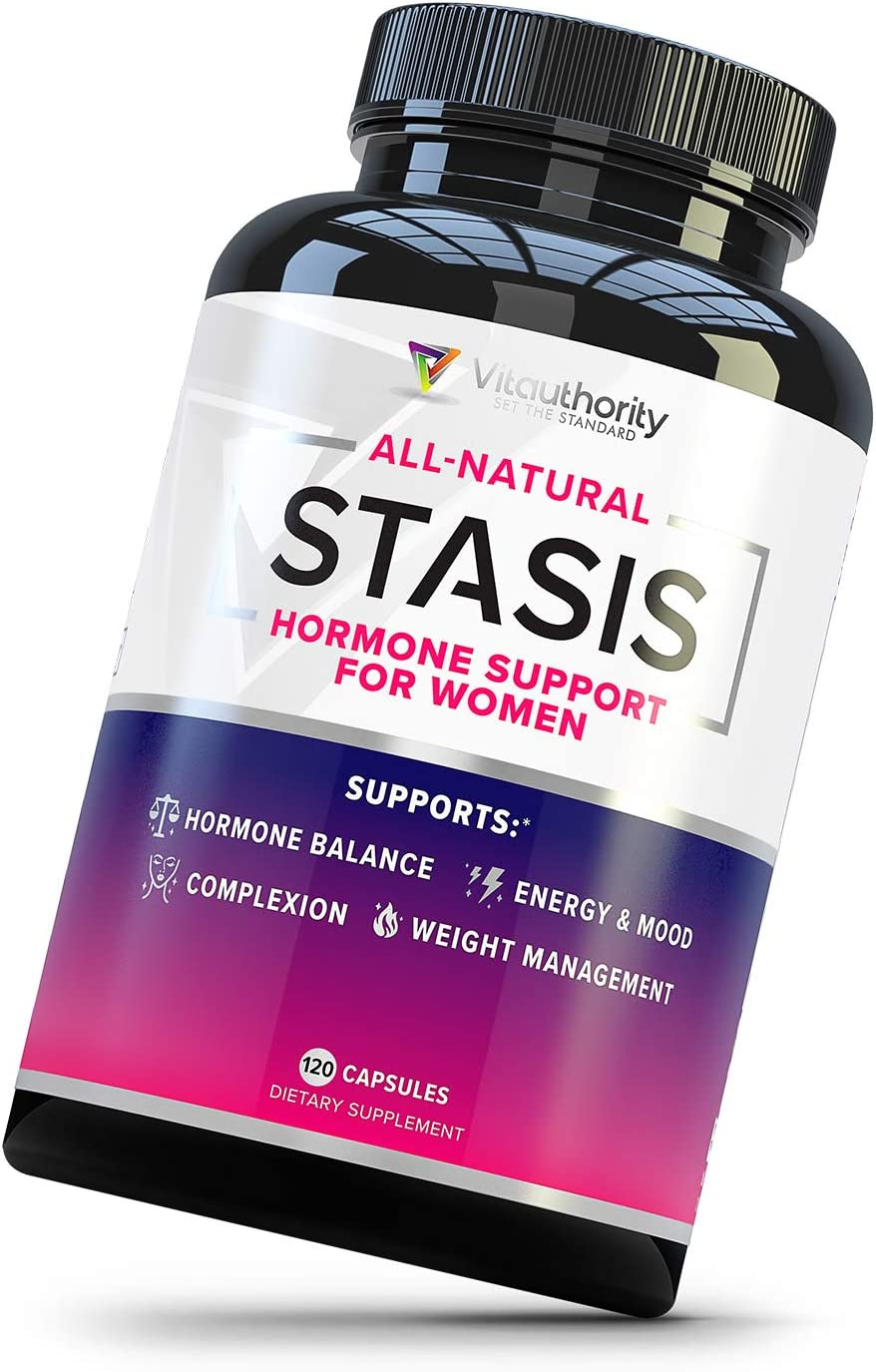 Stasis Estrogen Support Supplement for Women: DIM Supplements with Grape Seed Extract, Folate, Myo-Inositol and D-Chiro Inositol for Estrogen Balance, Perimenopause and Menopause Relief, 30 Servings