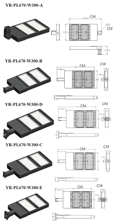 Ainfox 300w Led Street Light Shoe Box Parking Lot Lights Outdoor Pole Wiring Diagram Site And Area Sports Court 33000l 4800 5300k Rohs Etl Dlc Ce