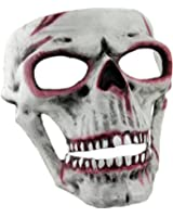 Plastic Mens Costume Masks M31179 Bloody White Human Skull Full Face Adult Halloween Mask 7 X 7.25 X 4.75 Inches White