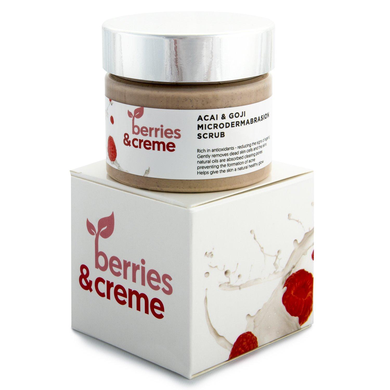 Bayas y crema orgánicos Acai y Goji microdermoabrasión ...