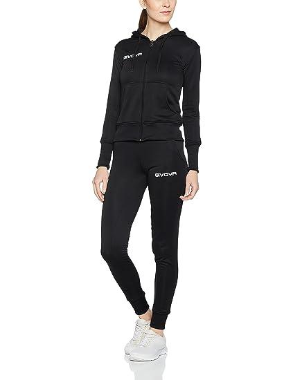 Classic Trainingsanzug Damen | pink schwarz 100% Polyester