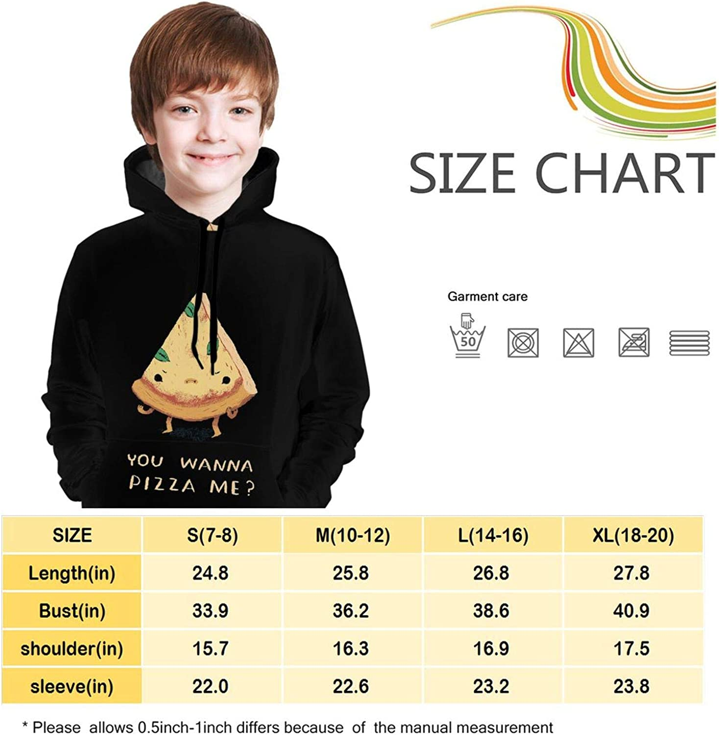 TZT You Wanna Pizza Me Youth Sweater Fashion and Comfortable Childrens Sweater