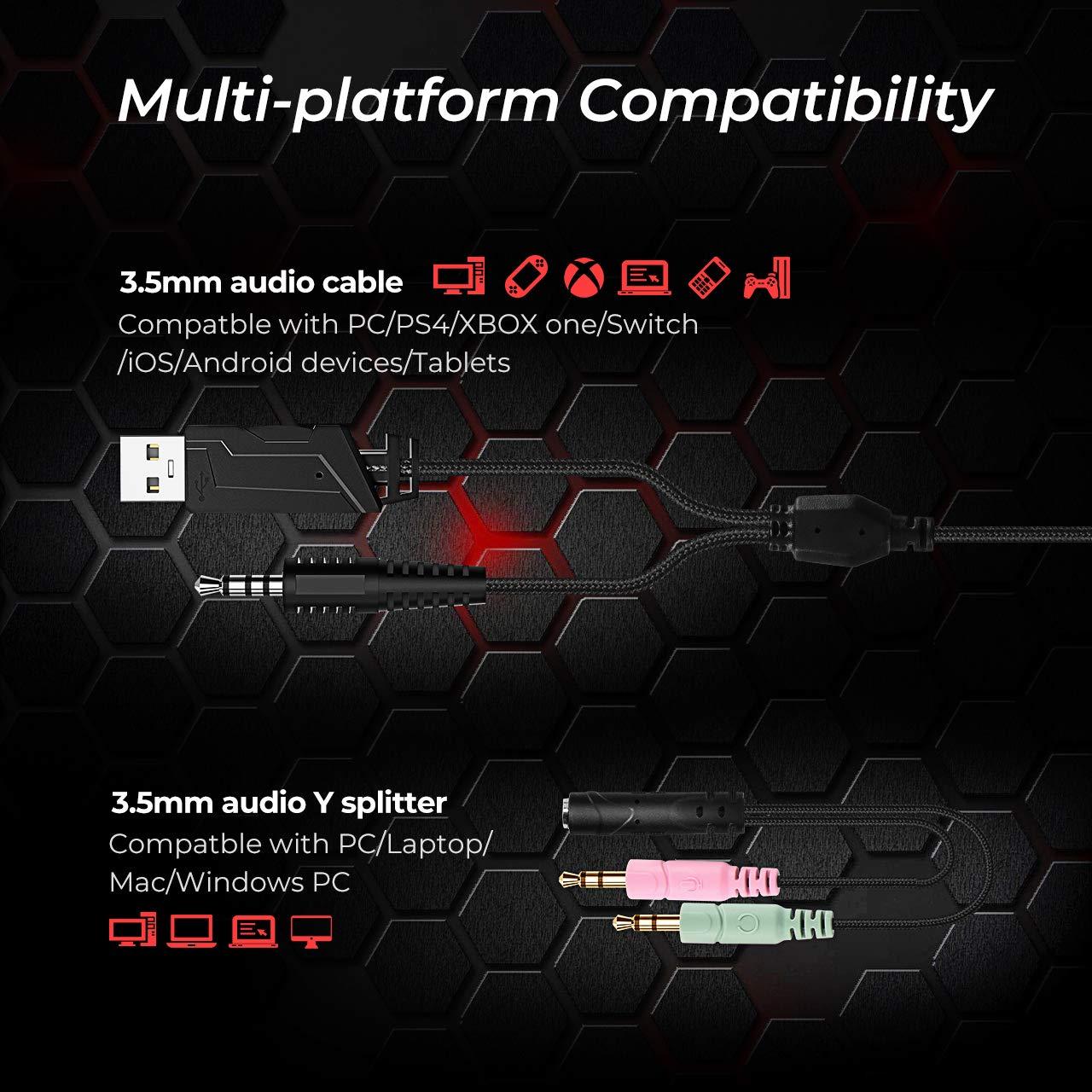 Amazon.com: Mpow EG10 - Auriculares de diadema para PS4, PC ...