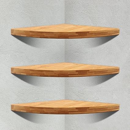 Corner Floating Shelf, Wall Mount Cabinet Corner Shelves Storage For  Kitchen Bathroom Shower (3