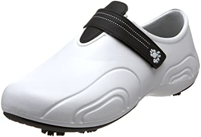 DAWGS Men's Ultralite Golf Shoes, White with Black, ...
