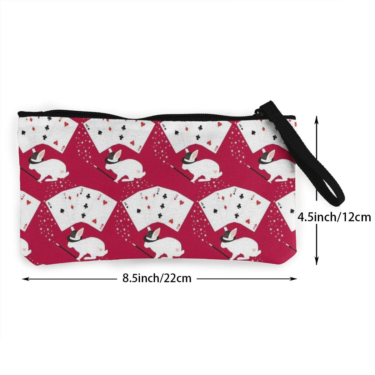 Coin Pouch Rabbit In Hat Does Card Tricks Canvas Coin Purse Cellphone Card Bag With Handle And Zipper