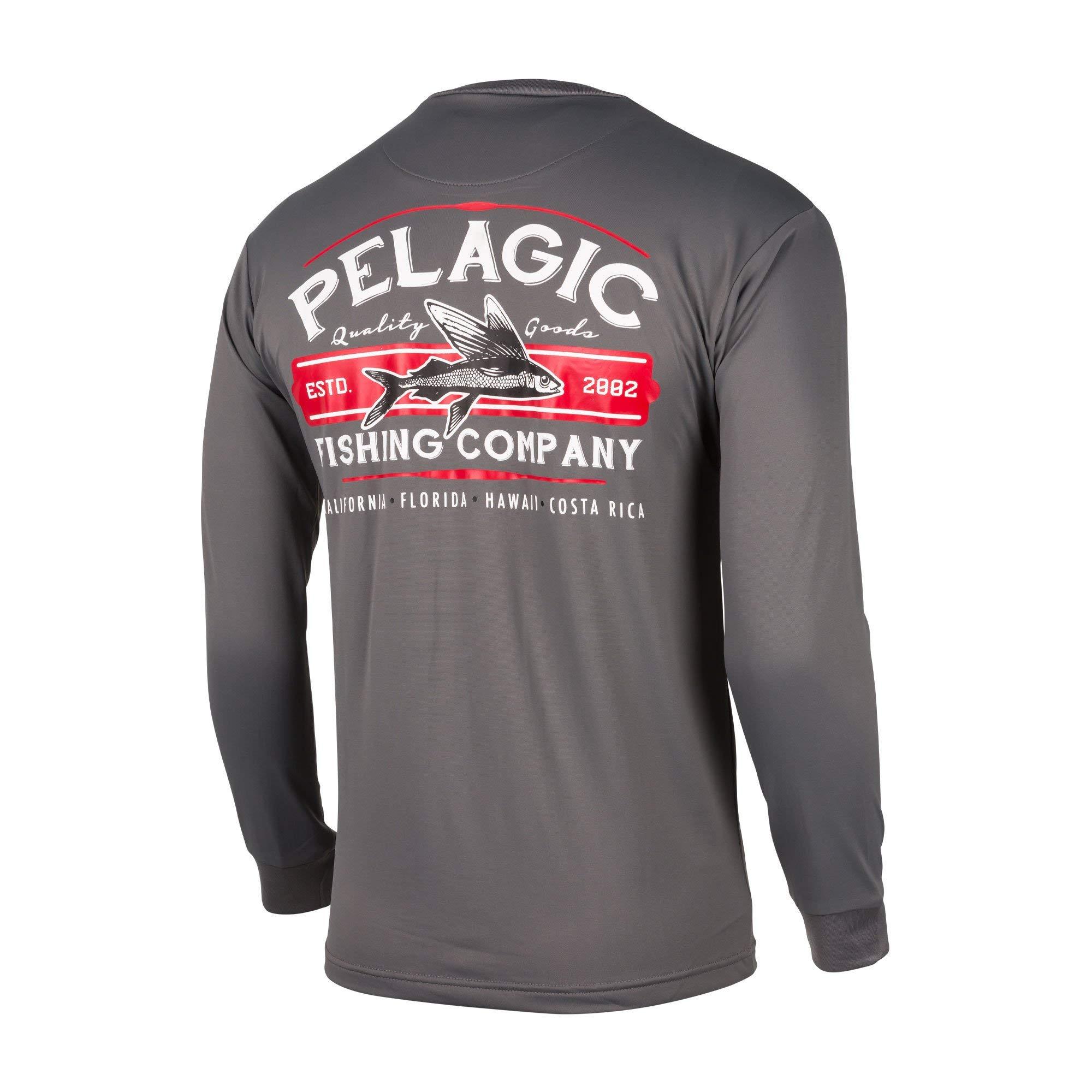 Pelagic Vaportek Sideline Performance Long Sleeve Hex Americamo White 1015191002