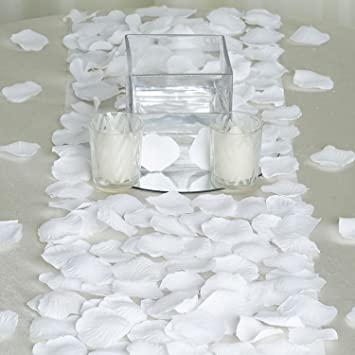 Amazon balsacircle 4000 silk rose artificial petals supplies balsacircle 4000 silk rose artificial petals supplies wedding decorations white junglespirit Image collections