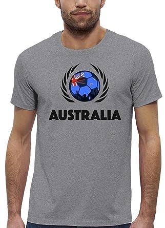 ShirtStreet Australia Fussball WM Premium Fan Herren T-Shirt Bio Baumwolle  Stanley Stella Fußball Australien