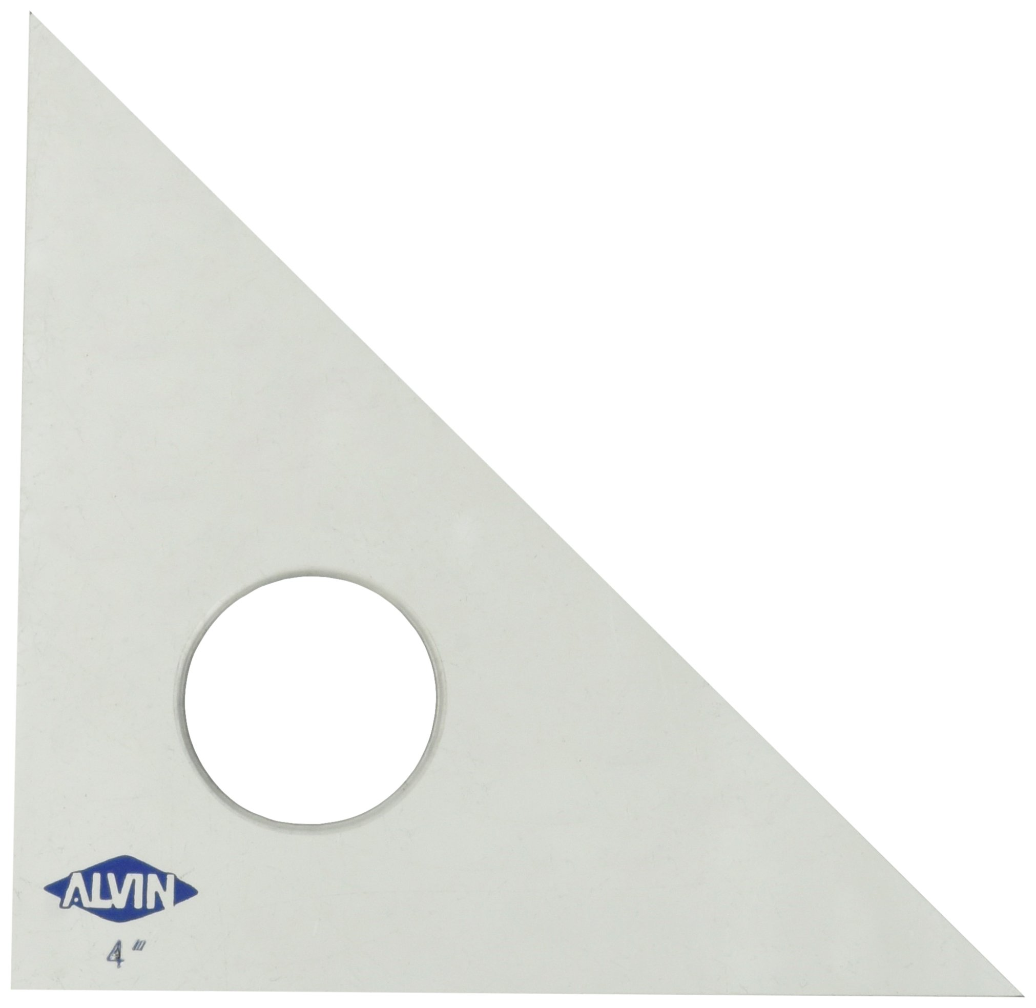 Alvin 131C-4 45-Degree/90-Degree 4'' Clear Professional Acrylic Triangle by Alvin